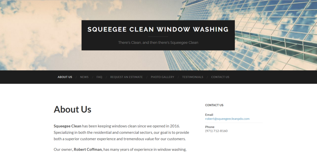 Squeegee Clean Window Washing - Snapshot
